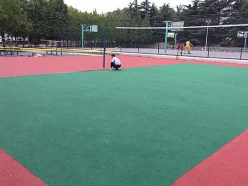 大连海事大学1200平排球塑胶场地