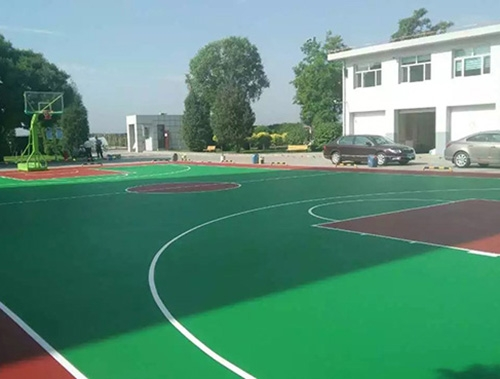 大连硅PU篮球场